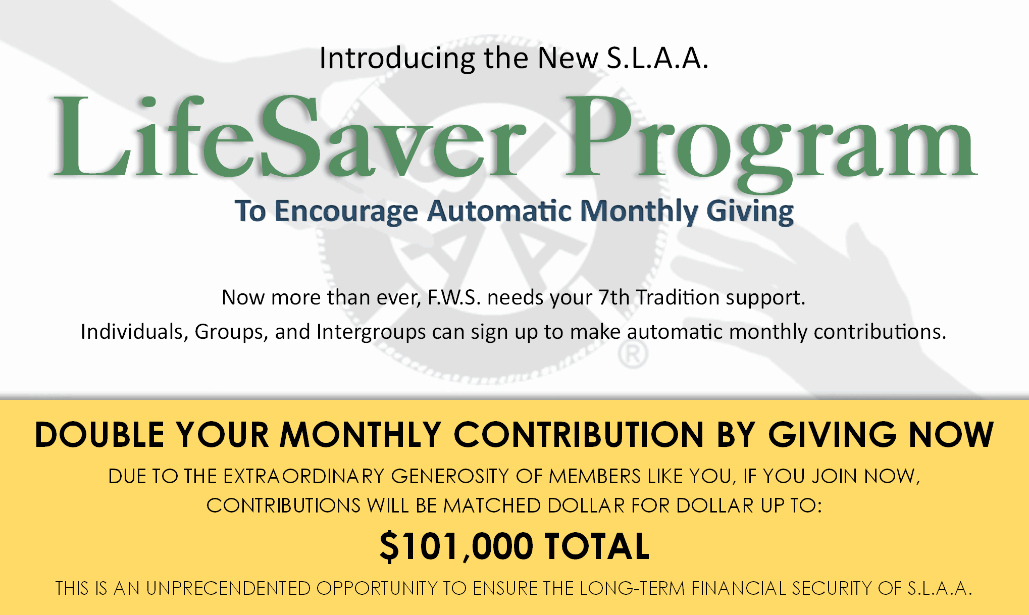 LifeSaver Monthly Giving Program